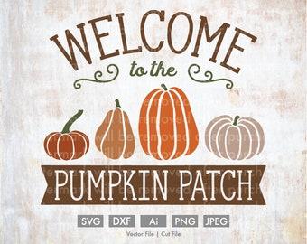 Rustic Pumpkin Patch Truck - Vector/Cutting File, Silhouette, Cricut, SVG, PNG, JPEG, Clip Art, Download, Decor Farm Old Truck Farm Arrow
