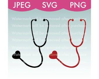 Heart Stethoscope Vector Images - SVG - PNG - JPEG - Nurse - Doctor - Health - Healthcare - Hospital - Art - Stock Photo - Files - Download