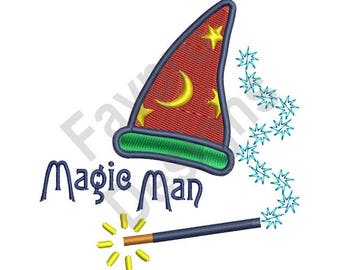 Cappello da Mago Magic Man - macchina ricamo Design 35acac60ff62
