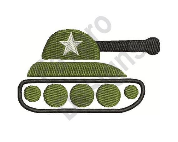 Army Tank Machine Embroidery Design Etsy