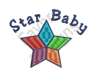 Star Baby - Machine Embroidery Design