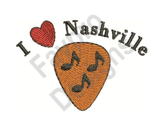 Love Nashville Machine Embroidery Design Etsy