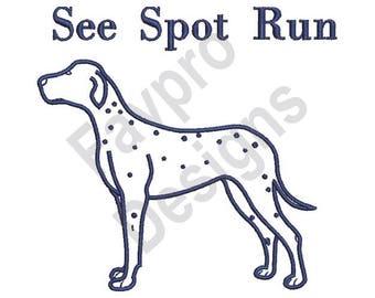 See Spot Run - Machine Embroidery Design