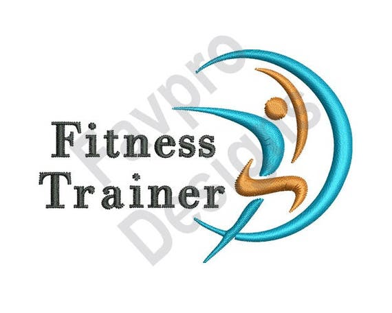 Fitness Trainer Machine Embroidery Design Etsy