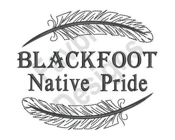 Native American Blackfoot Pride Machine Embroidery Design Etsy