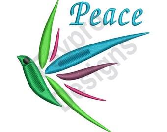 Peace Bird - Machine Embroidery Design