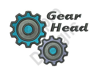 Gear Head - Machine Embroidery Design