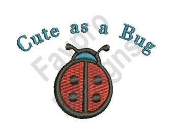 Cut As Bug - Machine Embroidery Design