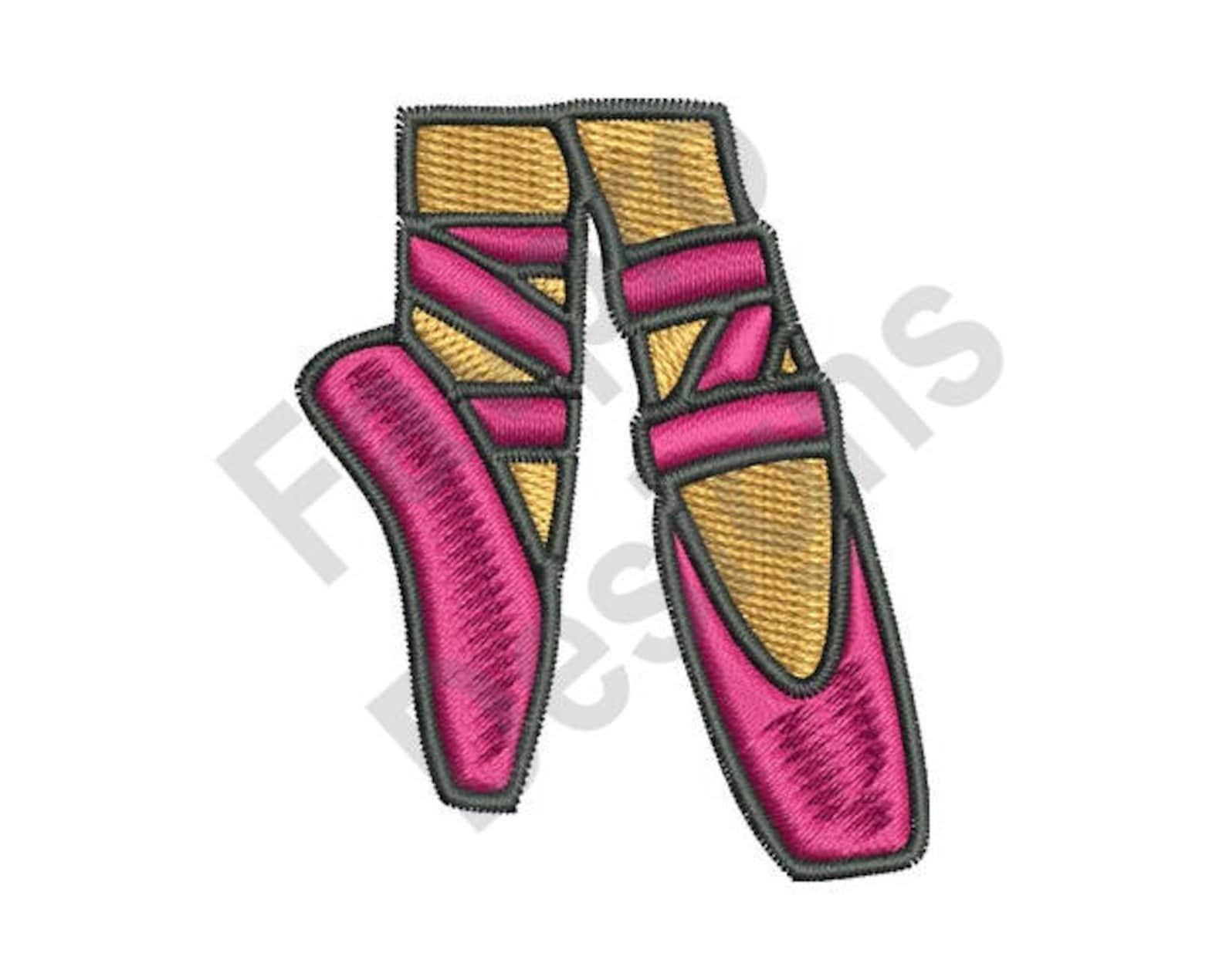 ballet shoes - machine embroidery design
