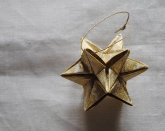 12-point Star for Christmas tree/decoration for tree/hand-folded origami decoration/origami star