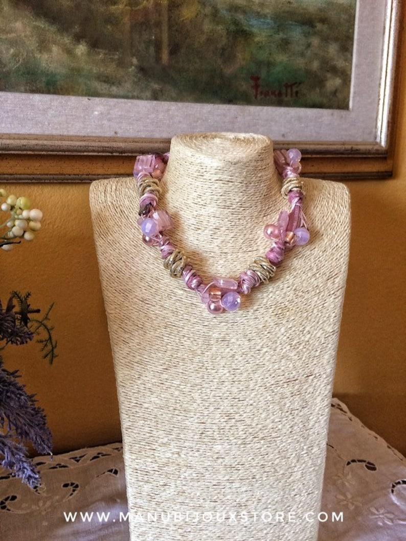 Powder pink necklace important necklace bridesmaid necklace image 0