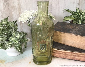 Vintage green glass bottle Antique collectible Vintage home decor Country home