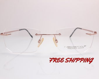 ab0cd52e714 Neostyle Vintage Eyewear Griff Type Polygon Frame Made in Germany Perfect  For Reading Glasses