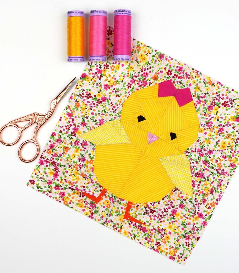Chickie Quilt Block Pattern Baby Chicken Pattern  PDF image 0