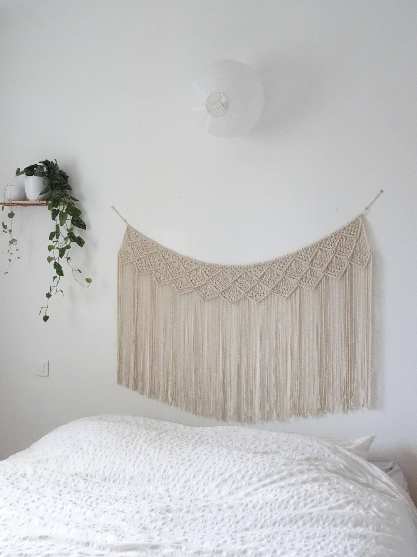 t te de lit en macram guirlande en macram d coration. Black Bedroom Furniture Sets. Home Design Ideas