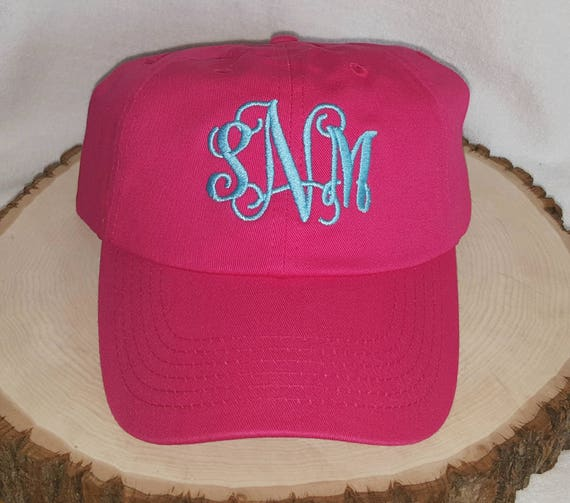 MONOGRAMMED BASEBALL CAP-Bridesmaid Hats- Personalized Baseball Cap 342493ad470c