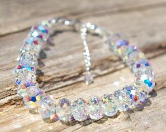 99b0bd17dfe Swarovski Crystal Bracelet Swarovski Bracelet Briolette Bracelet Bridal Bracelet  Swarovski AB Bracelet BRIDAL JEWELRY