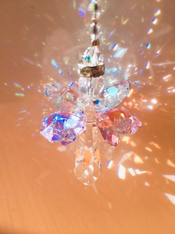 Asfour 38mm AB Icicle Angel Crystal Sun CatcherCar Charm