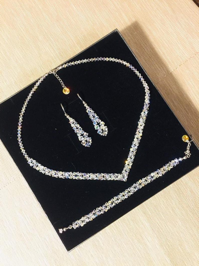 ae91d48fb Swarovski Wedding Jewelry Set Swarovski Crystal Bridal Jewelry | Etsy