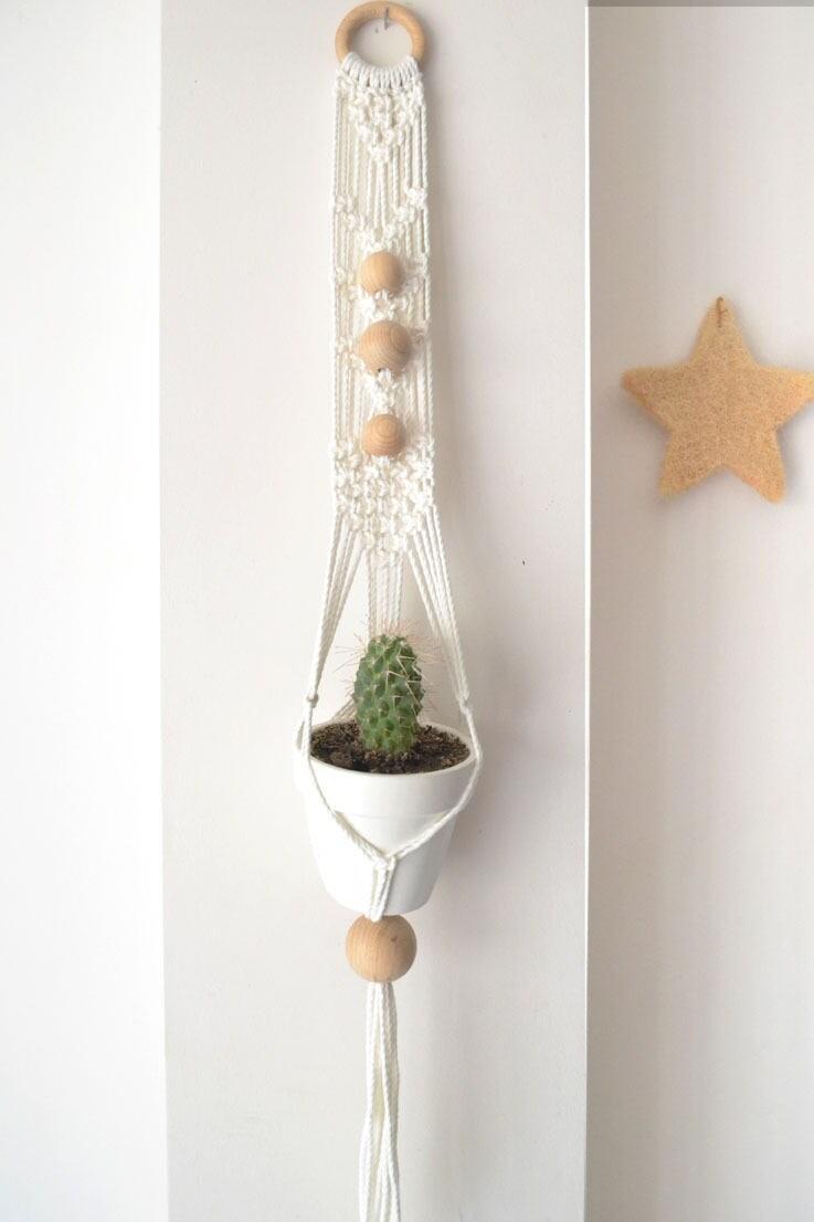 suspension en macram cordon coton 100 etsy. Black Bedroom Furniture Sets. Home Design Ideas