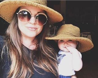 Matching Sun Hats for Mom and kiddo