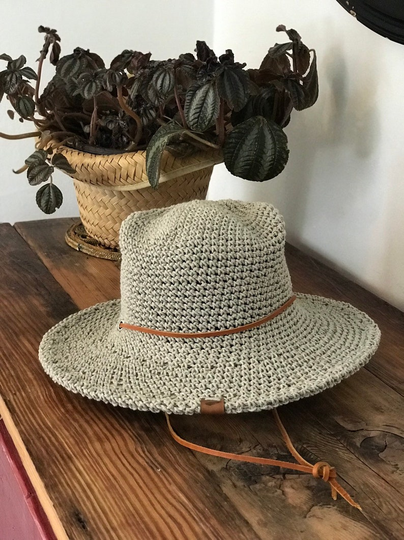 eb38c7fe38a1ba Cotton Sun Hats for Women a packable waterproof sun   Etsy