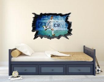 Ronaldo wall decal etsy cristiano ronaldo cr7 wall decal voltagebd Choice Image