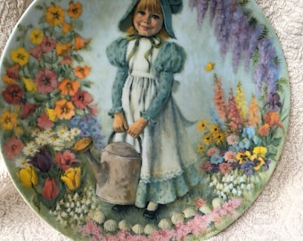 Decorative Mother Goose collectible plate