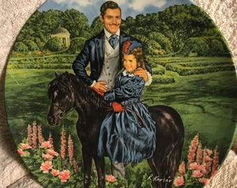 Gone With the Wind collectible plate by Knowles - Bonnie and Rhett