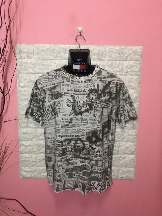 Vintage 80's Shirt Band The Clash Full Prints