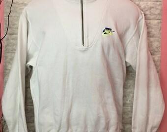 Vintage Sweatshirt Half Zip Witb Double Logo