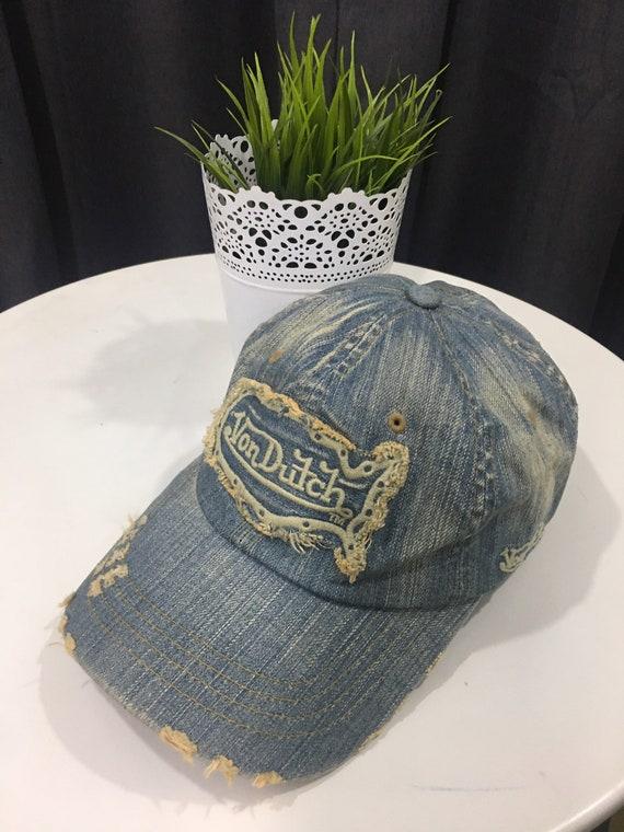 Rare Cap Von Dutch Ripped Style