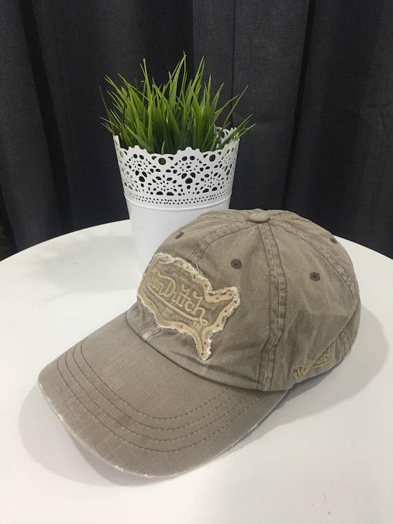 Rare Cap Von Dutch Ripped Design