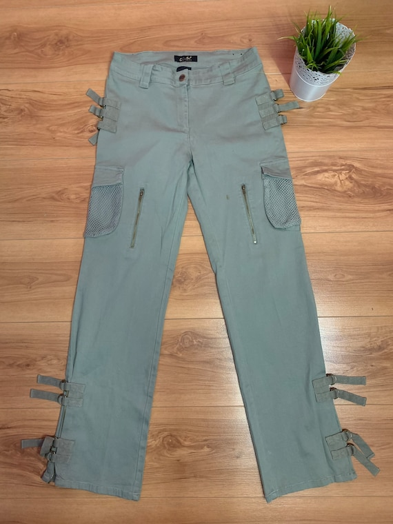 Vintage Cargo Green Army Clash Jeans USA