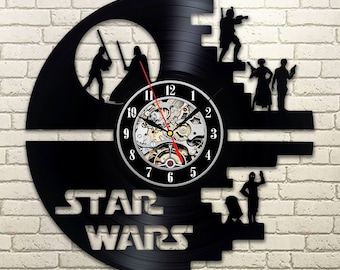 Star wars gifts for him wall clock death star star wars death star clock star wars decor for teenage boy boys room darth vader episode small apartment house homes vintage style solutioingenieria Gallery