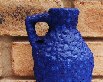 West Germany 1970. XL Silberdistel Design vase in a Special Form and Beautiful Color Blue