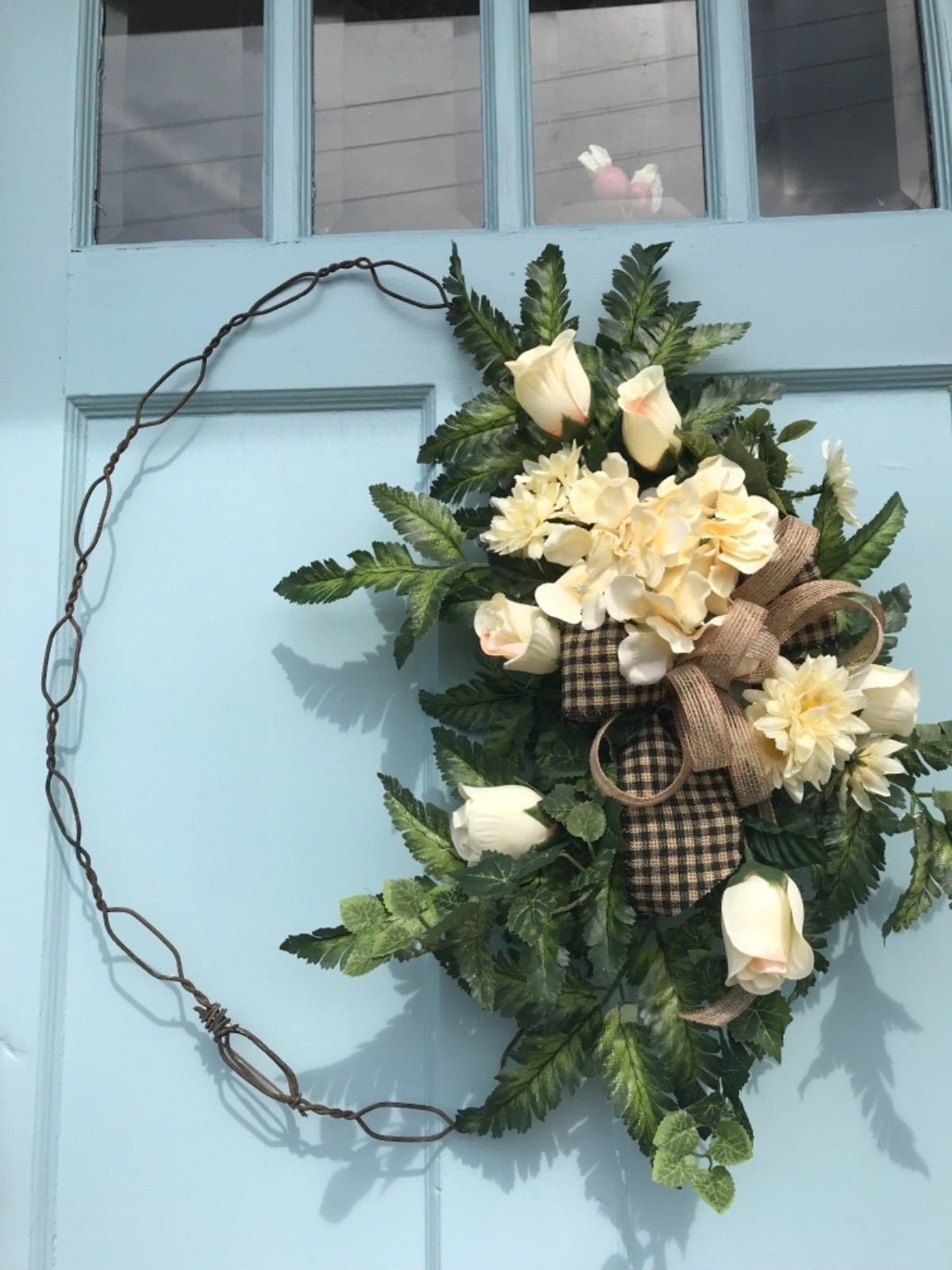 Wreaths, Wreaths For Front Door, Everyday, Handmade, Spring Or Summer,