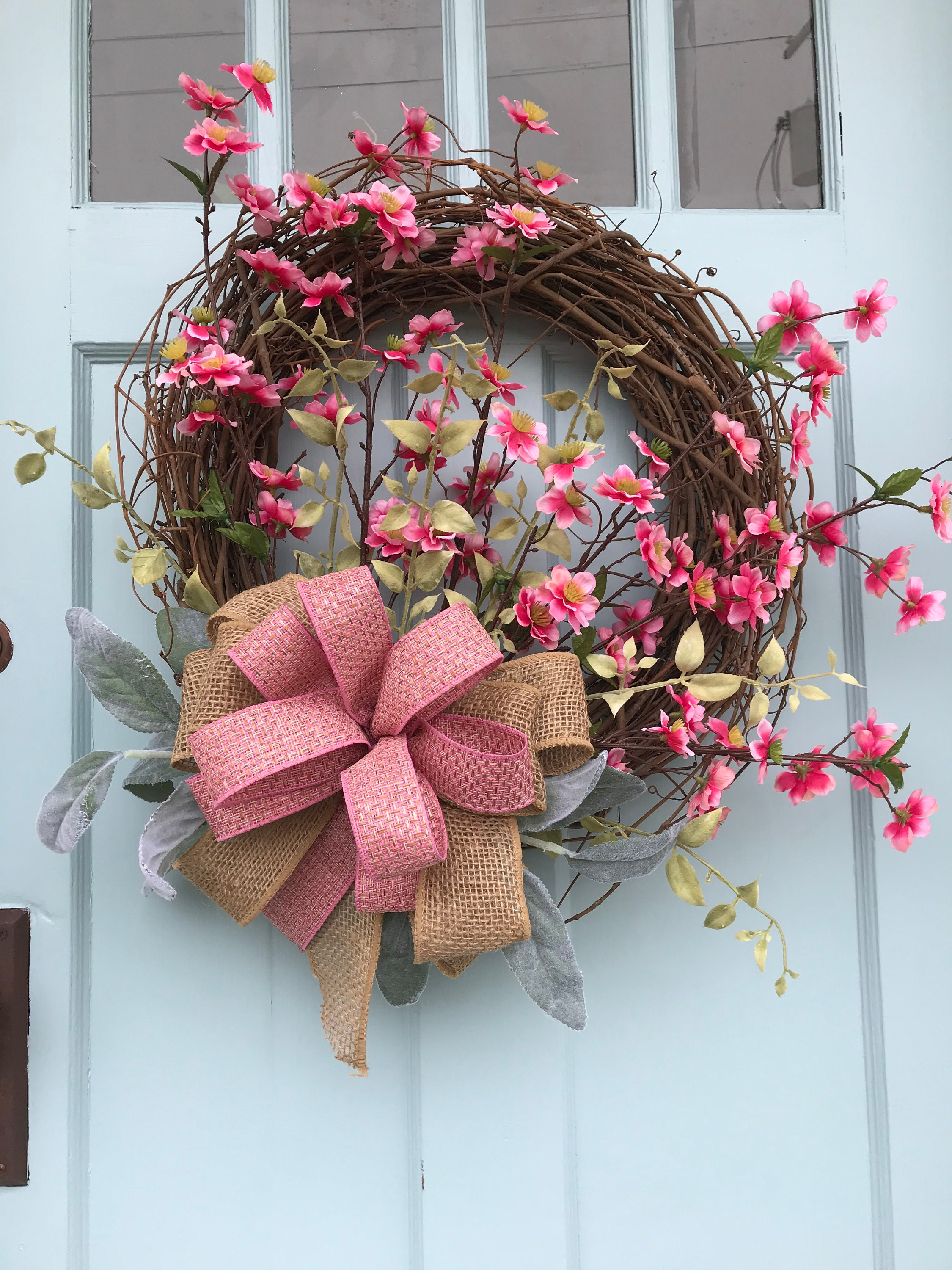 Free Shipping Be Ready For Spring Beautiful Rustic Unique Wreath
