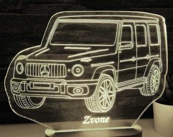 Mercedes Benz 3D Night Light Auto Geschenk Mercedes-Benz Led Lamp Gift for Mercedes Lovers Mercedes Light Lamp Car Gift Gift for Him