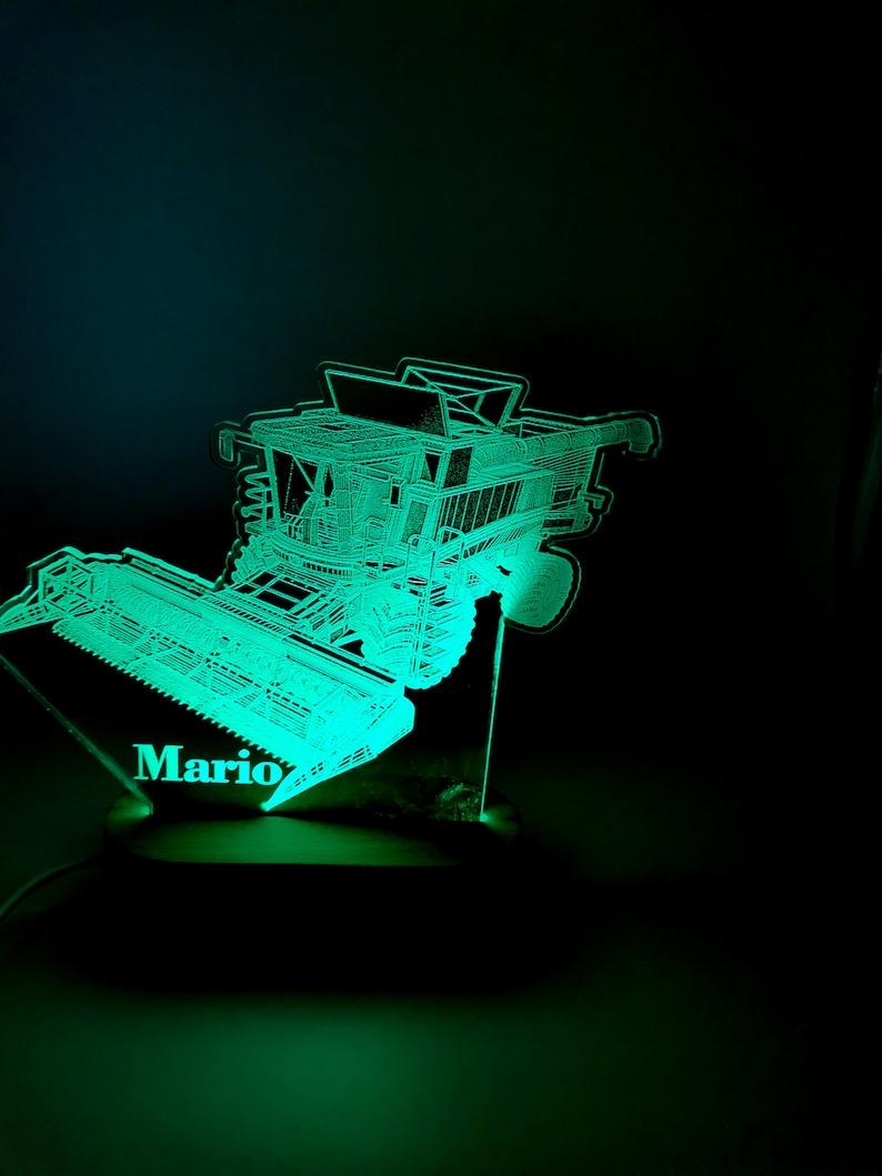 Combine Harvester 3D Night Lamp Harvester Svg. 3D Notte LED A4qxNSDz