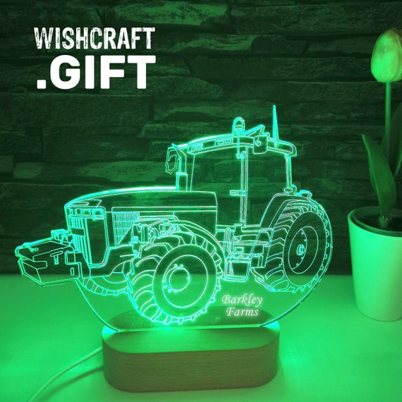 John Deere LED Lamp, John Deere tractor 3D lamp, 3D Illusion tractor, Traktor, Trattore, Personalization and delivery free