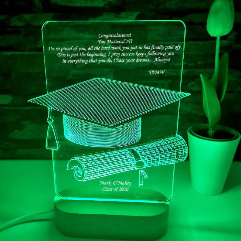 \u4fee\u58eb\u53f7 Master Degree Graduation Gift Geschenk Master Abschluss Graduation Night Light Masters Degree Gift LED Light Personalized Lamp