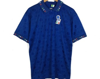 ad3682b20952c Rare!! vintage 90s DIADORA ITALIA national soccer team 1994 world cup  jersey blue large avs246