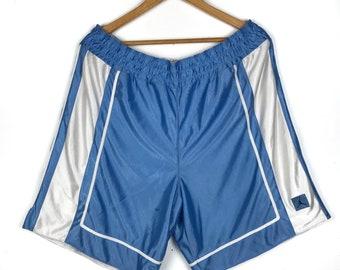 30c06d5daed00c Vintage 90s NIKE Air Jordan small logo reversible shorts pants blue white XL  avs177