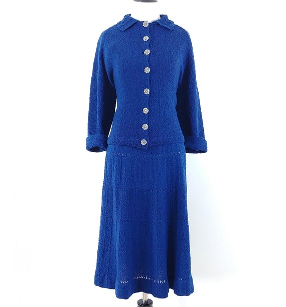 Vintage 1950s Dress Set   50s Sweater Set   60s S… - image 2