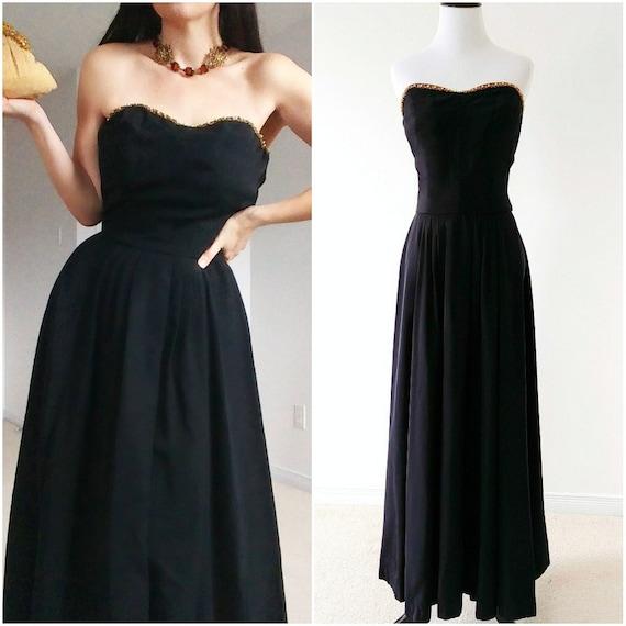 Rare 1940's Louella Ballerino Gown | 1940's Design