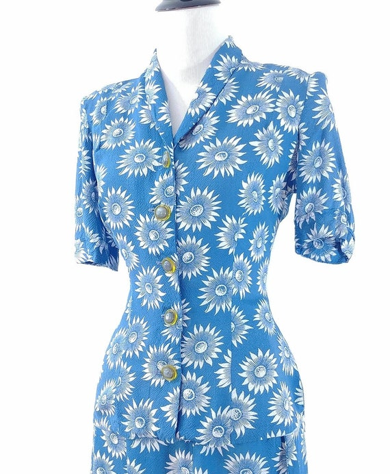 Vintage 1940s Blouse and Skirt Set | 40s Summer S… - image 5