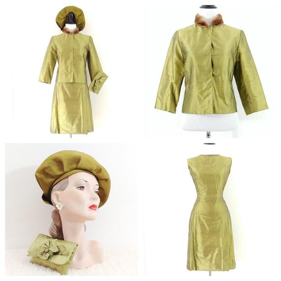 Vintage 1960's Four Piece Dress Set   60s Dress Se