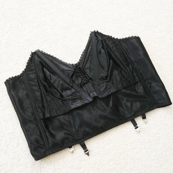 Vintage Size 40 1950s Strapless Bra | 50s Longline