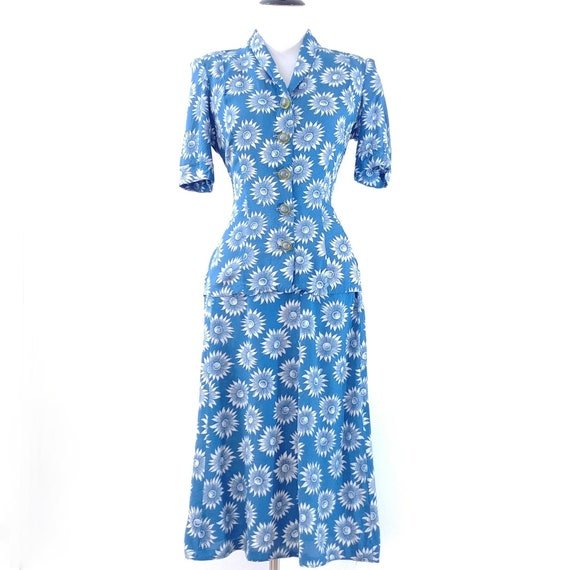Vintage 1940s Blouse and Skirt Set | 40s Summer S… - image 2